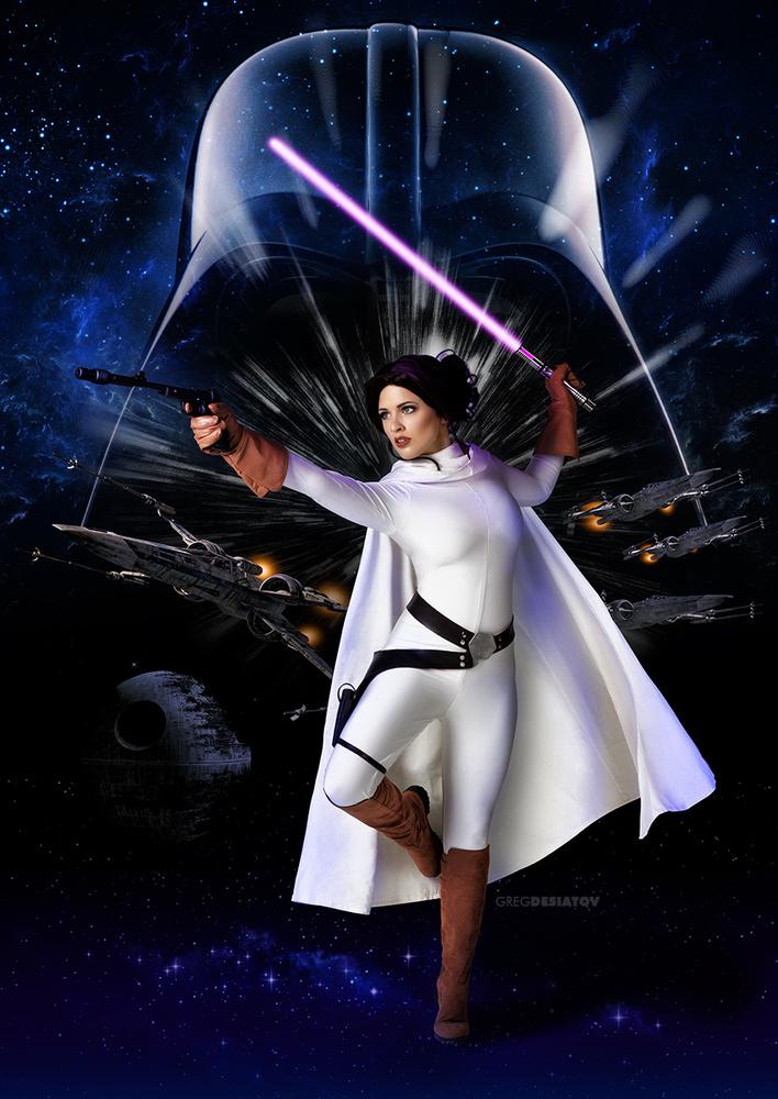 Teagan 01 - Princess Leia by Greg Desiatov