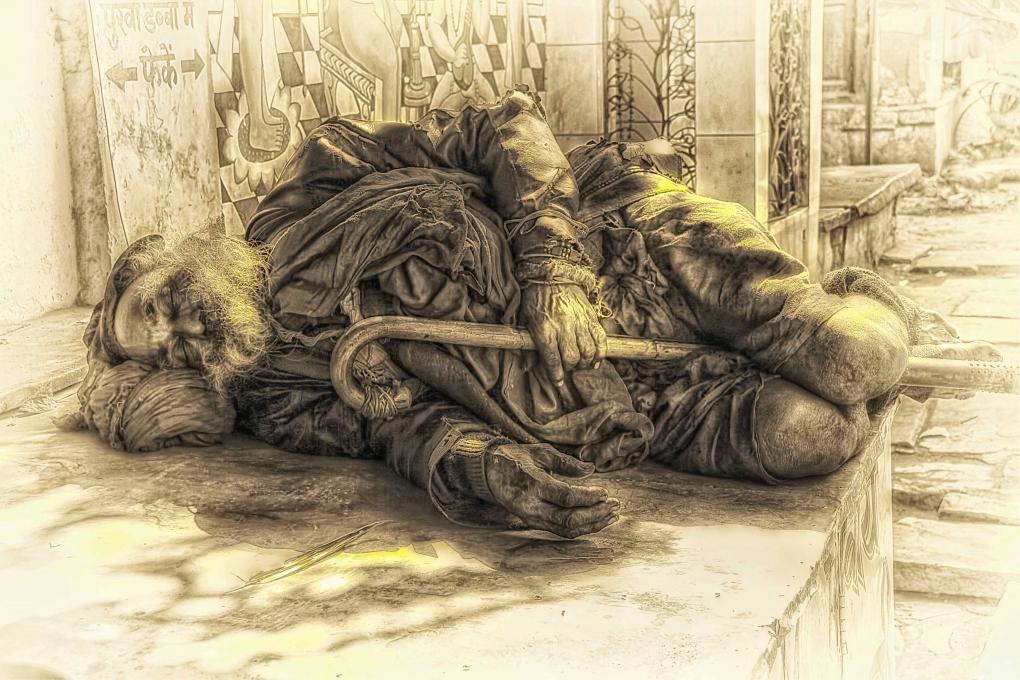 Sleeping Sadhu, Varanasi India by Spencer Van Der Walt