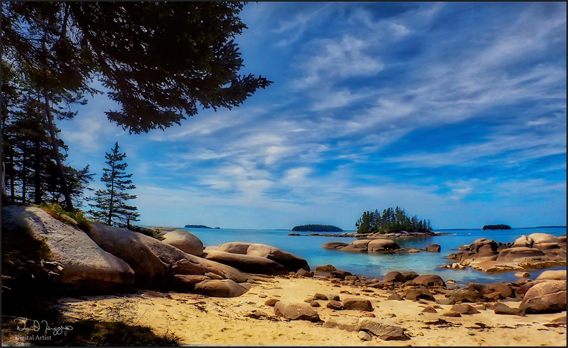 Sand beach by Dave Higgins