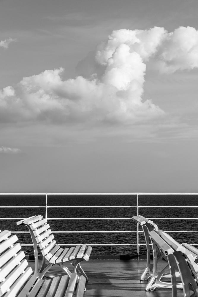 Traveling over Aegean Sea by Pantelis Kountourakis