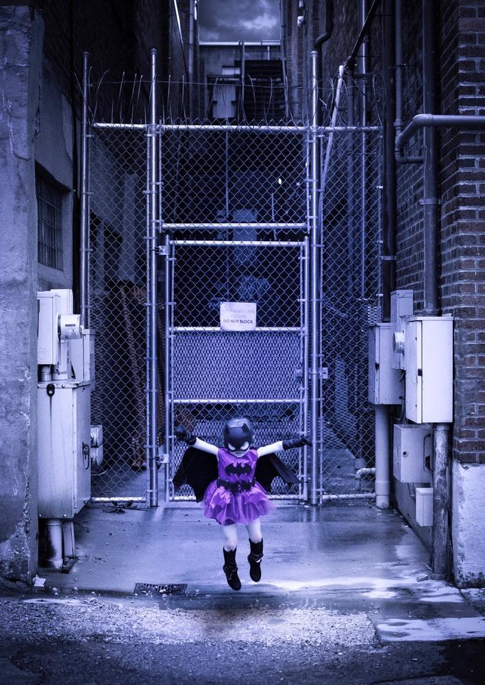 Batgirl in Alley by Logan Baker
