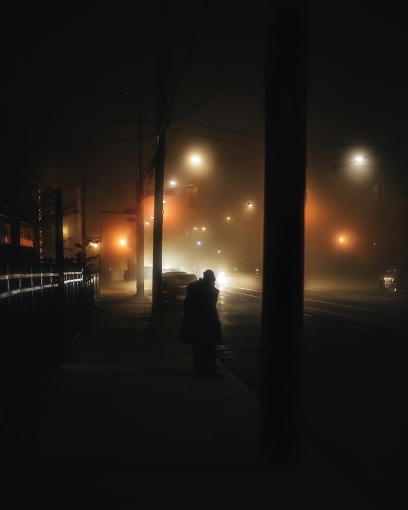 Fog in the city by GARY CUMMINS