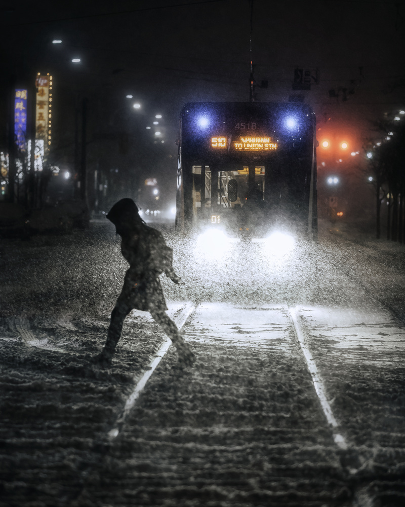 Snowy Streets by GARY CUMMINS