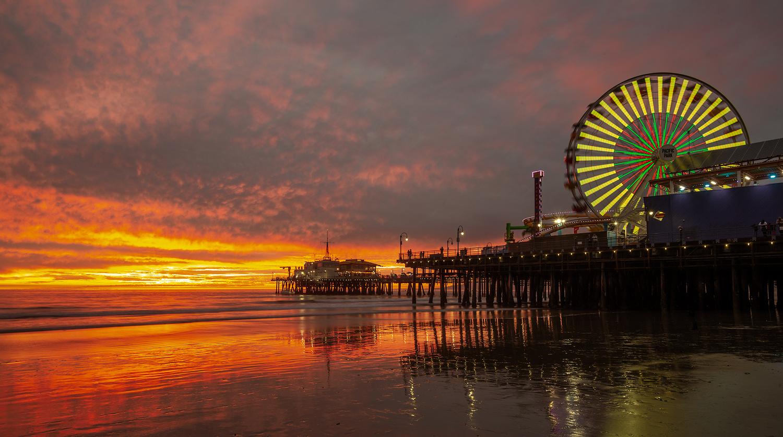 Santa Monica Pier by Stefan Olsson