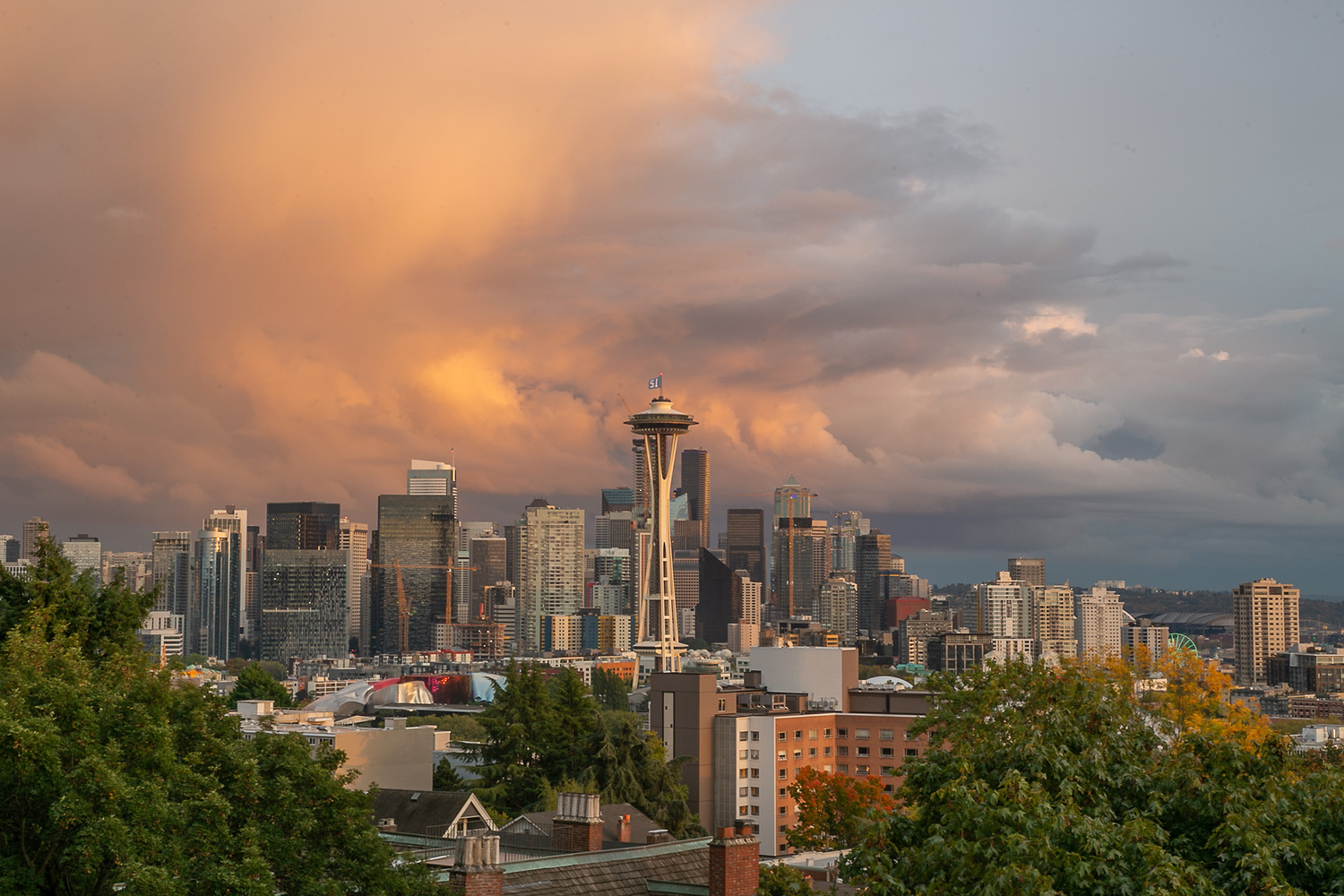 Seattle sunset by Stefan Olsson