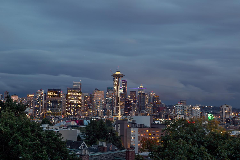 Seattle Night by Stefan Olsson