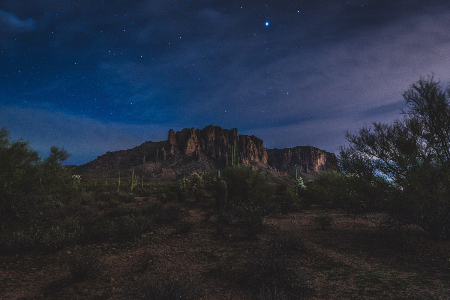 Superstition Mountains by Dave Bentley
