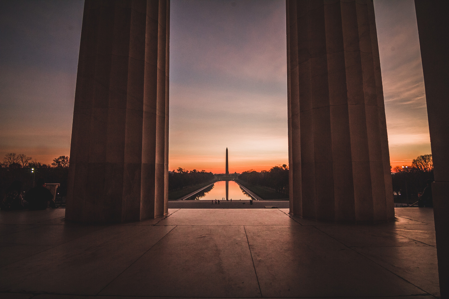 Washington Monument Framed by Dave Bentley
