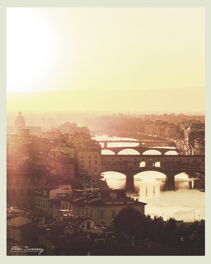 Sunset In Florence by Peter Sweeney