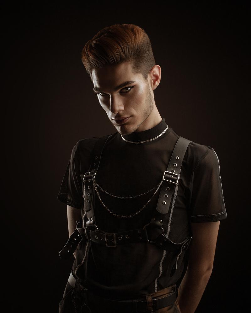 Dark rave male portrait by Dilyana Hezhaz