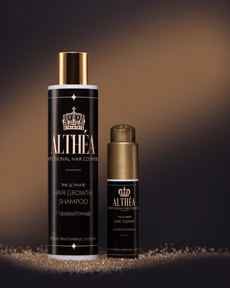 Commercial product shoot for Althea Hair Professional by Dilyana Hezhaz