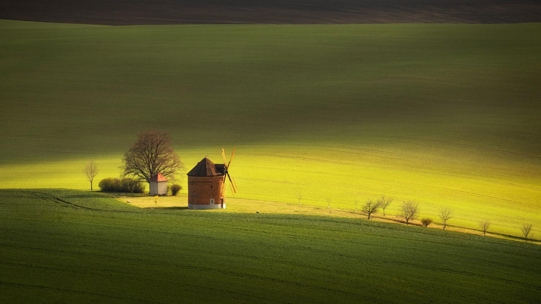 Moravian windmill by Piotr Skrzypiec