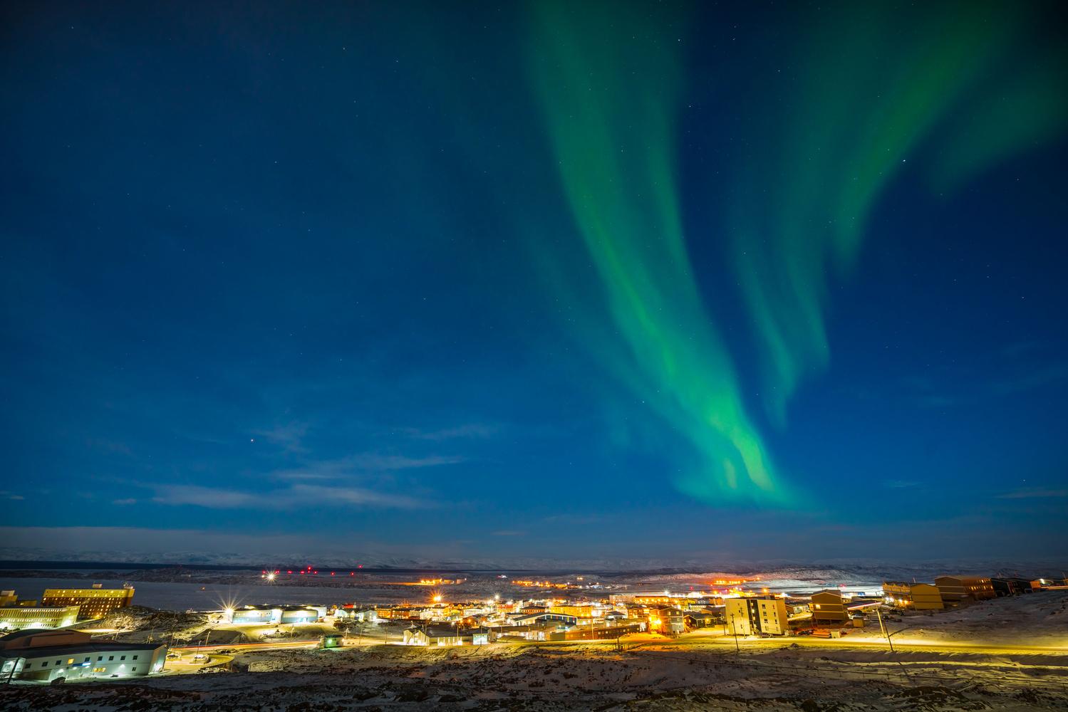 Arctic City Lights by Bill Williams