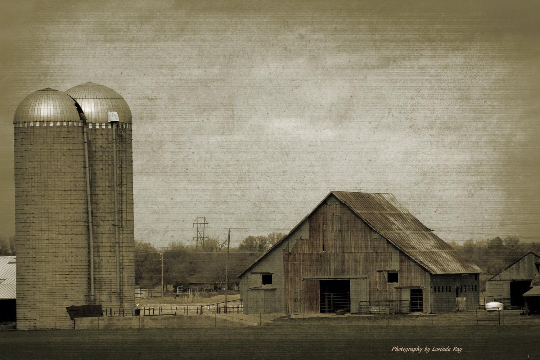 Old Barn and Silo by Lorinda Ray
