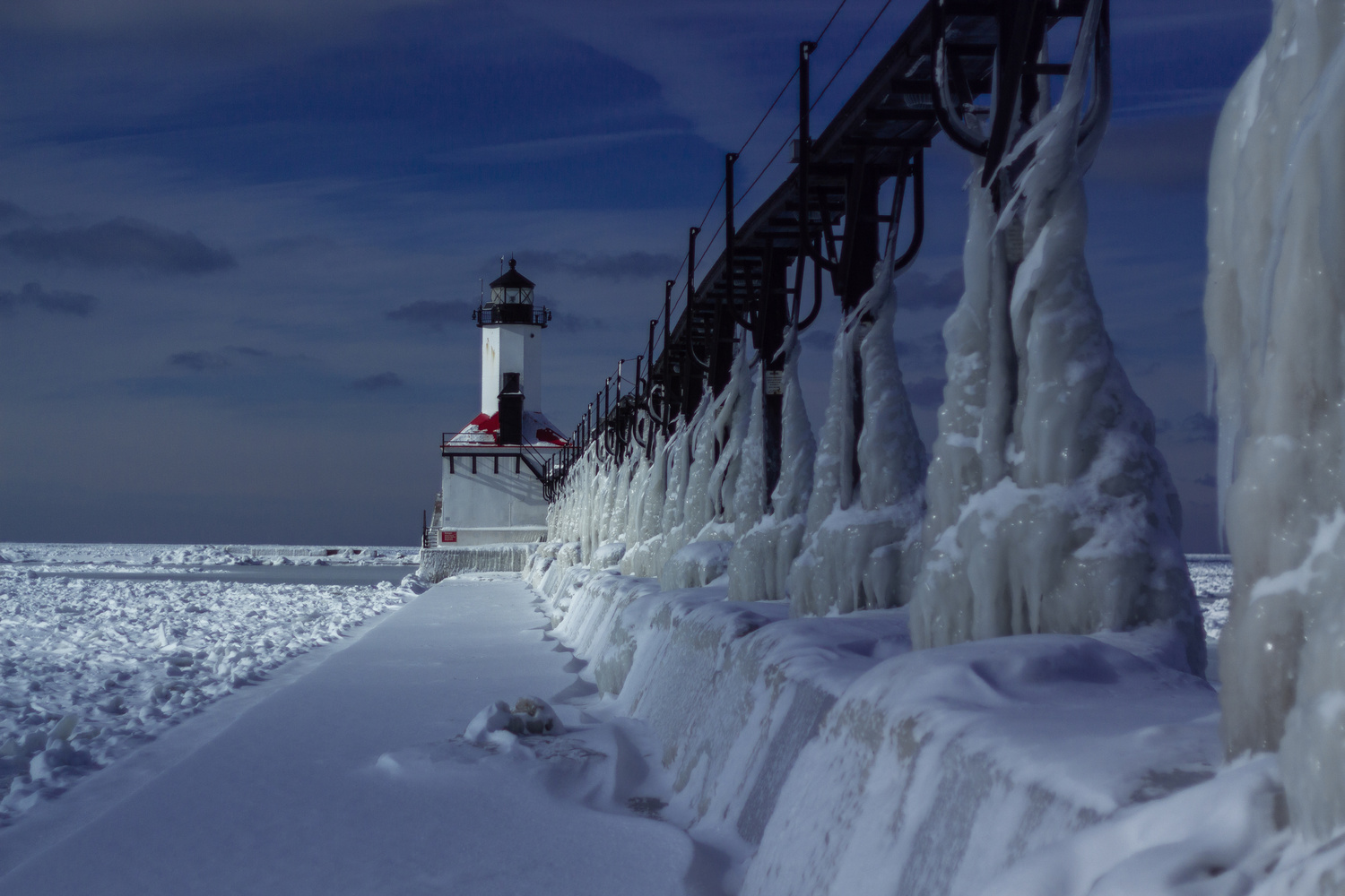 Winter at the Lighthouse by Chris Nemeth
