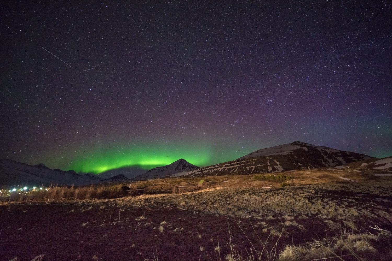 Northern lights in eastern Iceland. by Stas Aleksandersson