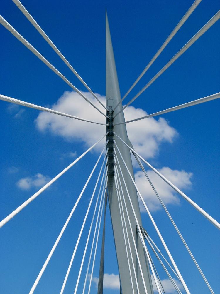 Esplanade Riel Bridge, Winnipeg by Paul Asselin