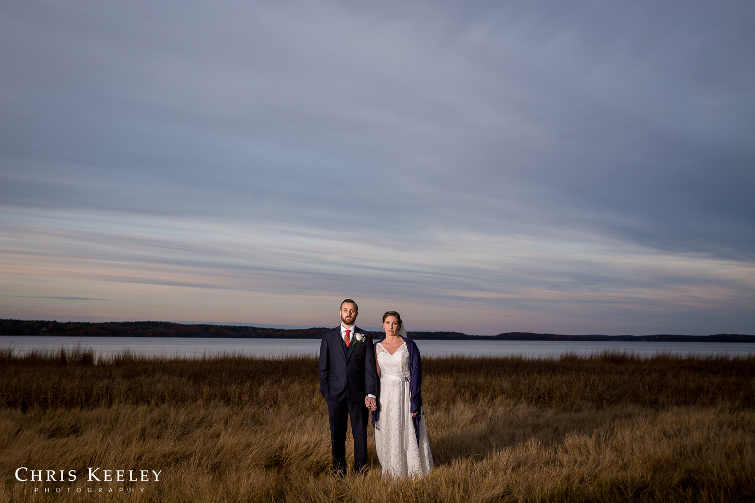 Wedding Portrait, American Gothic Style by Chris Keeley