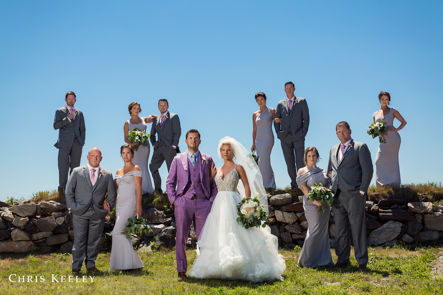 Stylish Wedding Party by Chris Keeley