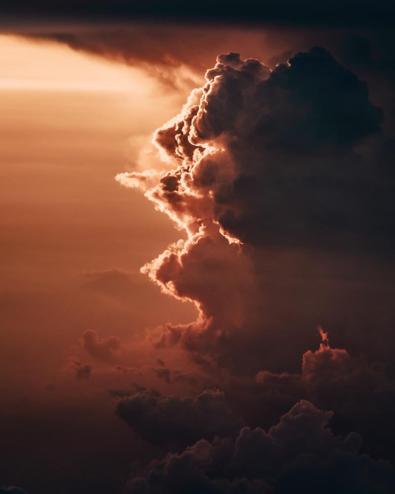 Storm at sunset by Steven de Vet