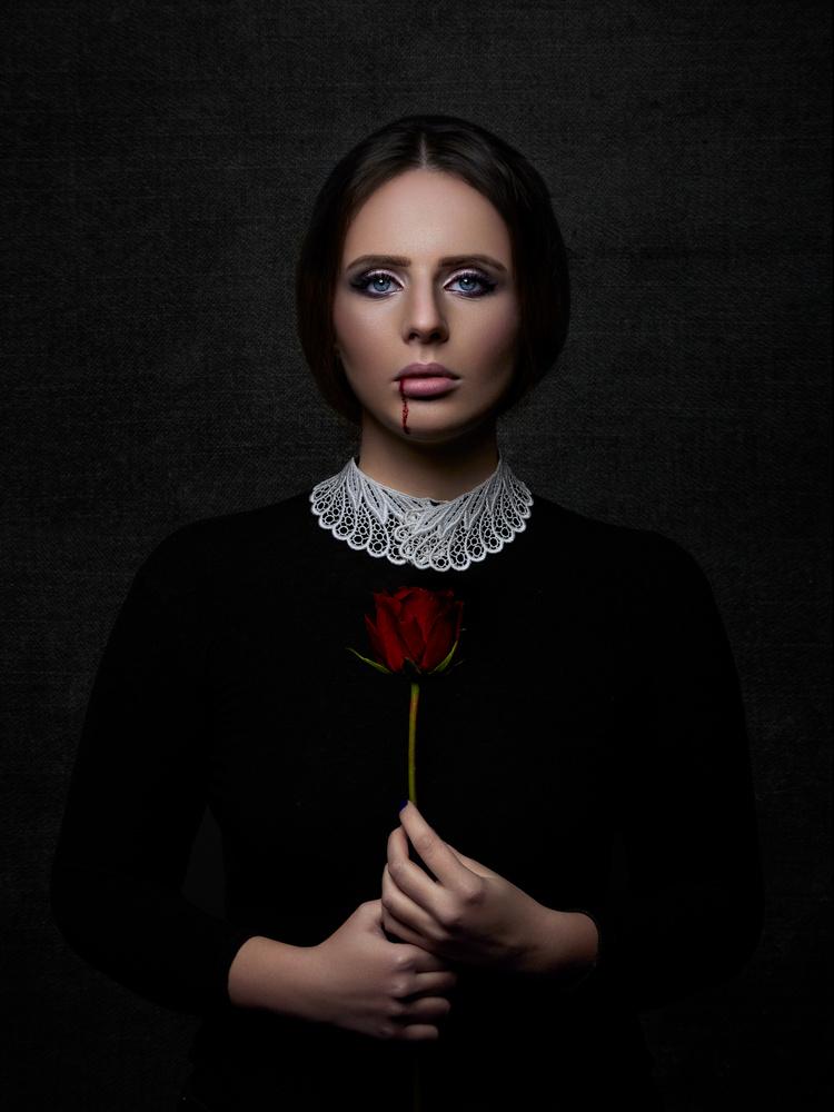 Bloody Rose by Samuel Zlatarev