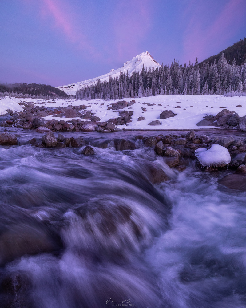 Sunrise view of Mt. Hood by John Byrn