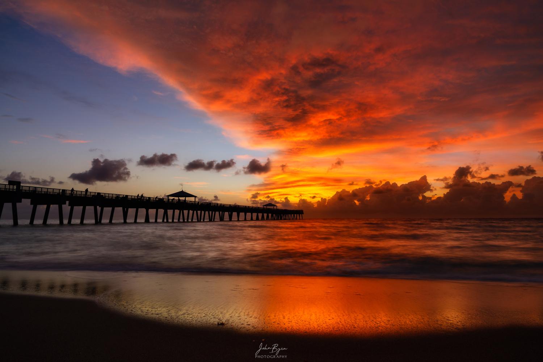 June Beach Sunrise by John Byrn