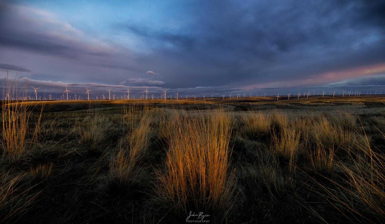 Wind Turbine Fields by John Byrn