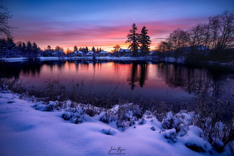 Morning Sunrise reflection by John Byrn