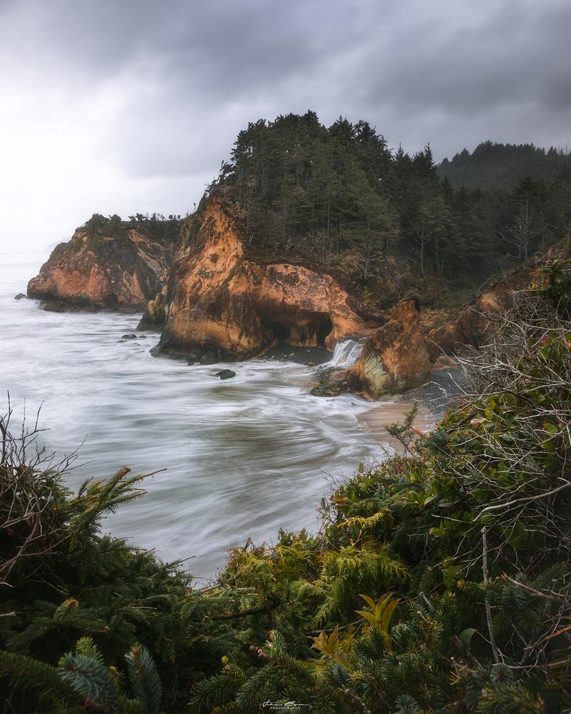 Coastal Waterfalls by John Byrn