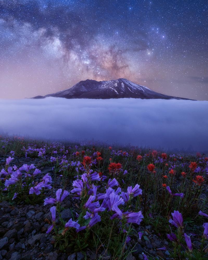 Eruption of St Helens by John Byrn