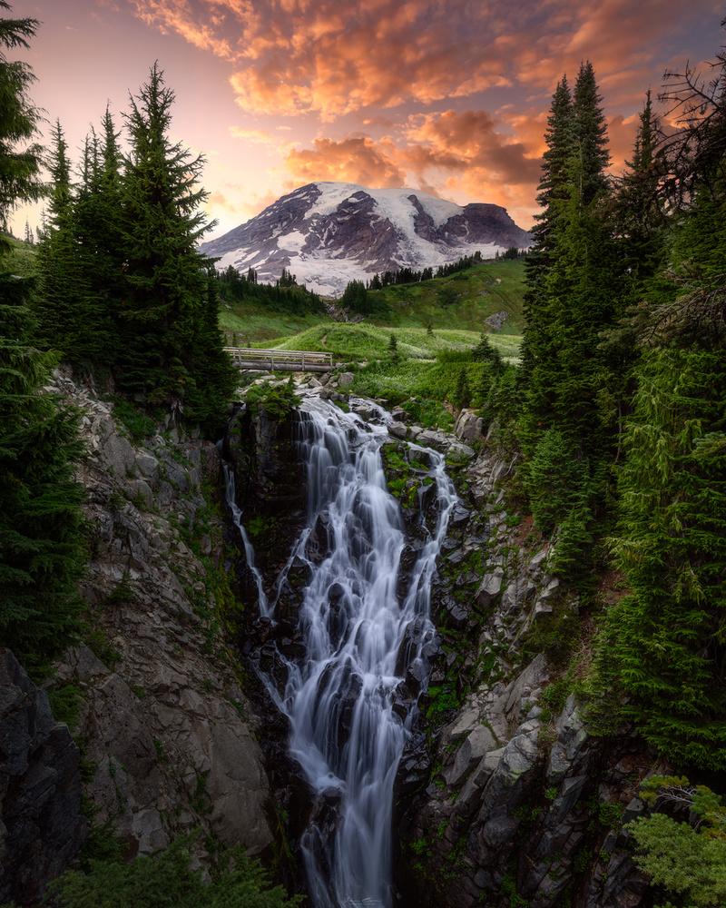 Myrtle Falls by John Byrn