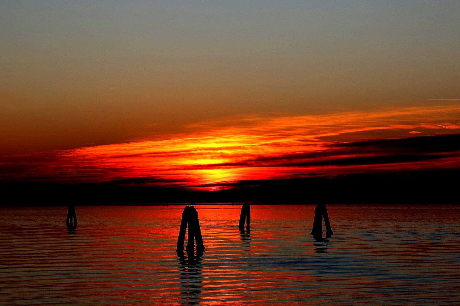 Sunset near Venice by Tamara Barzagli
