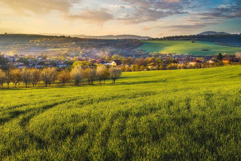 Bulgarian village on a spring morning by Vladislav Chanev