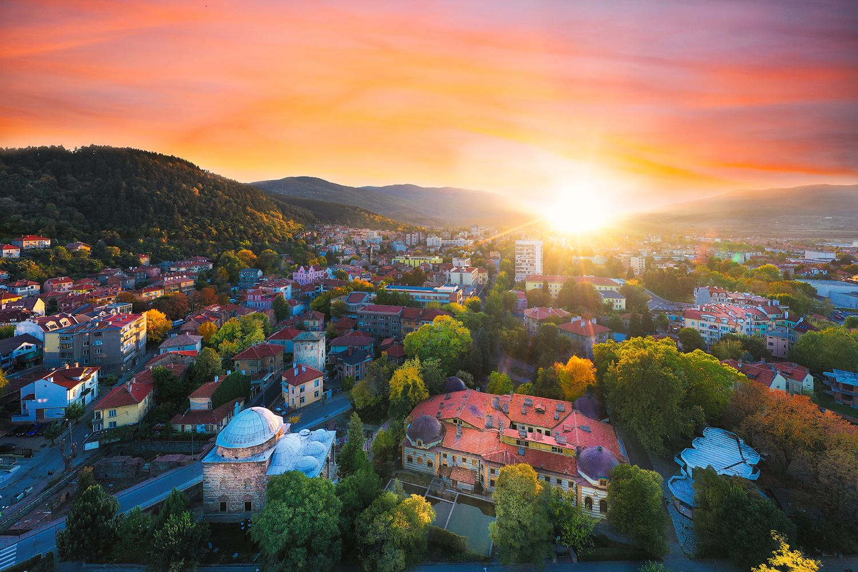 October Sunset in Kyustendil by Vladislav Chanev