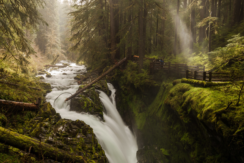 Sol Duc Falls Morning Mist by Jeremy Leder