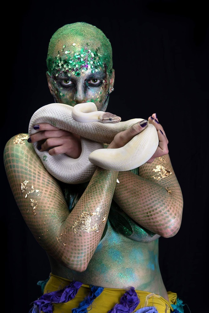 Snake woman by Riccardo Faldi