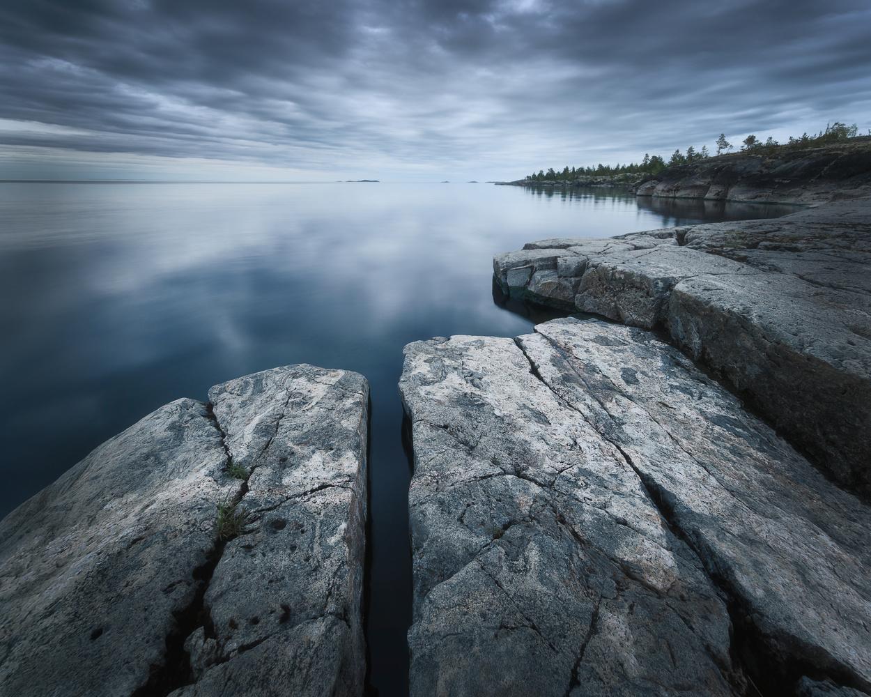 Ladoga lake skerries by Anton Dmitriev