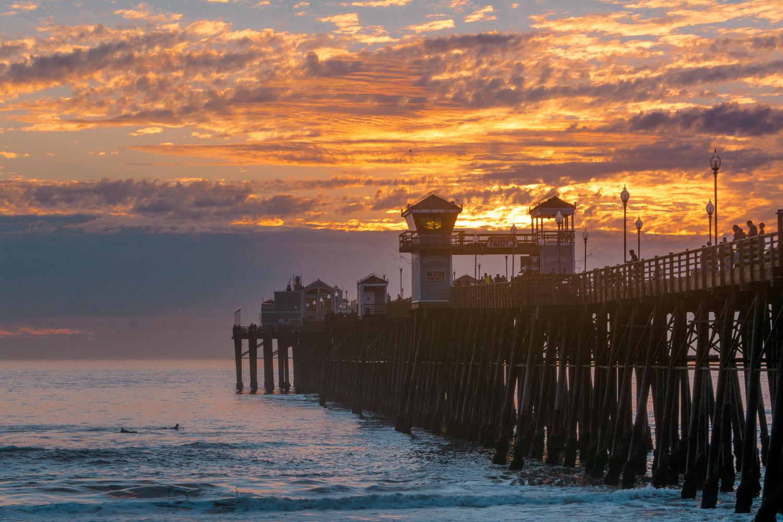 Pier Sunset by Matt Howard