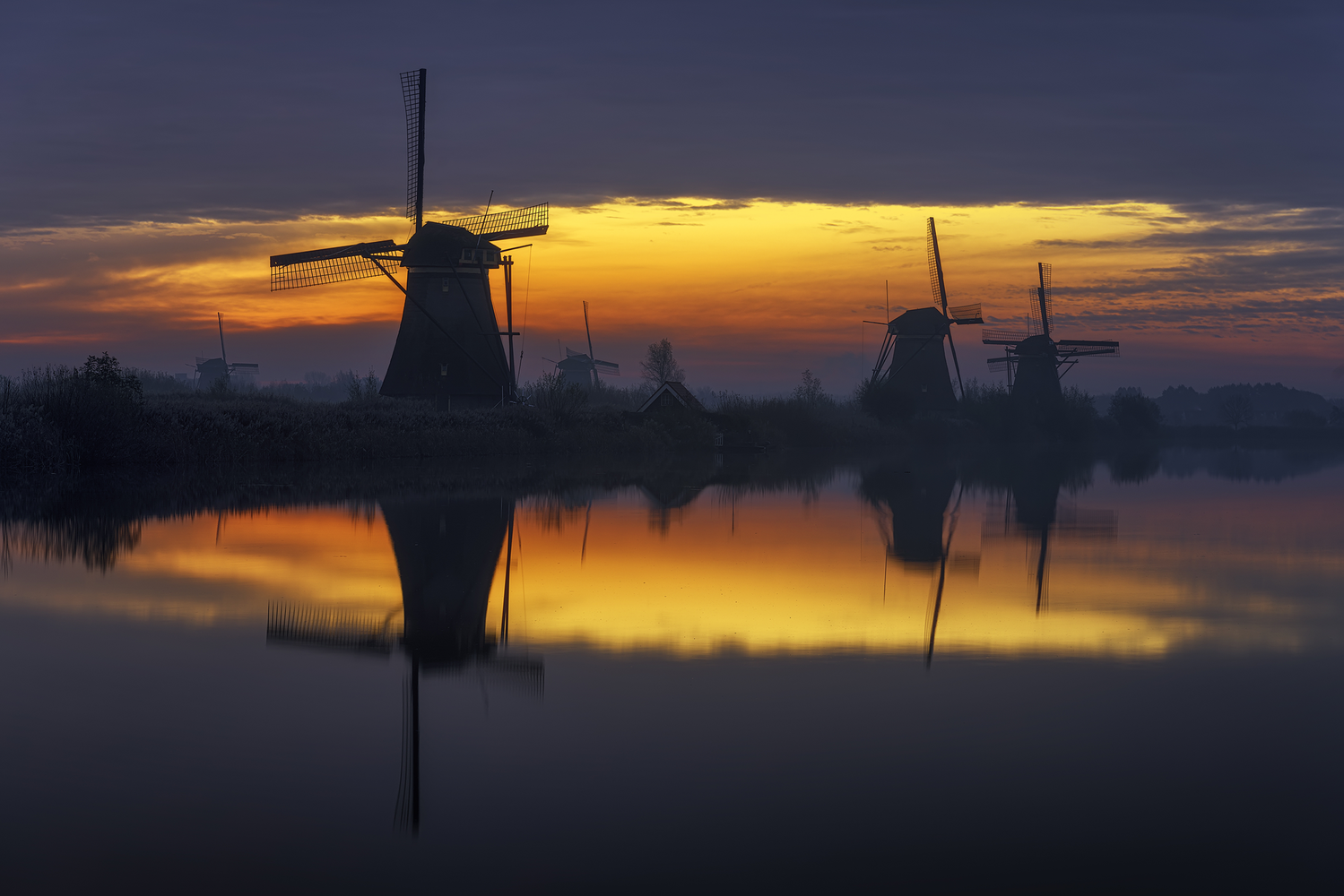 Kinderdijk Windmills , Holland. by Anton Calpagiu
