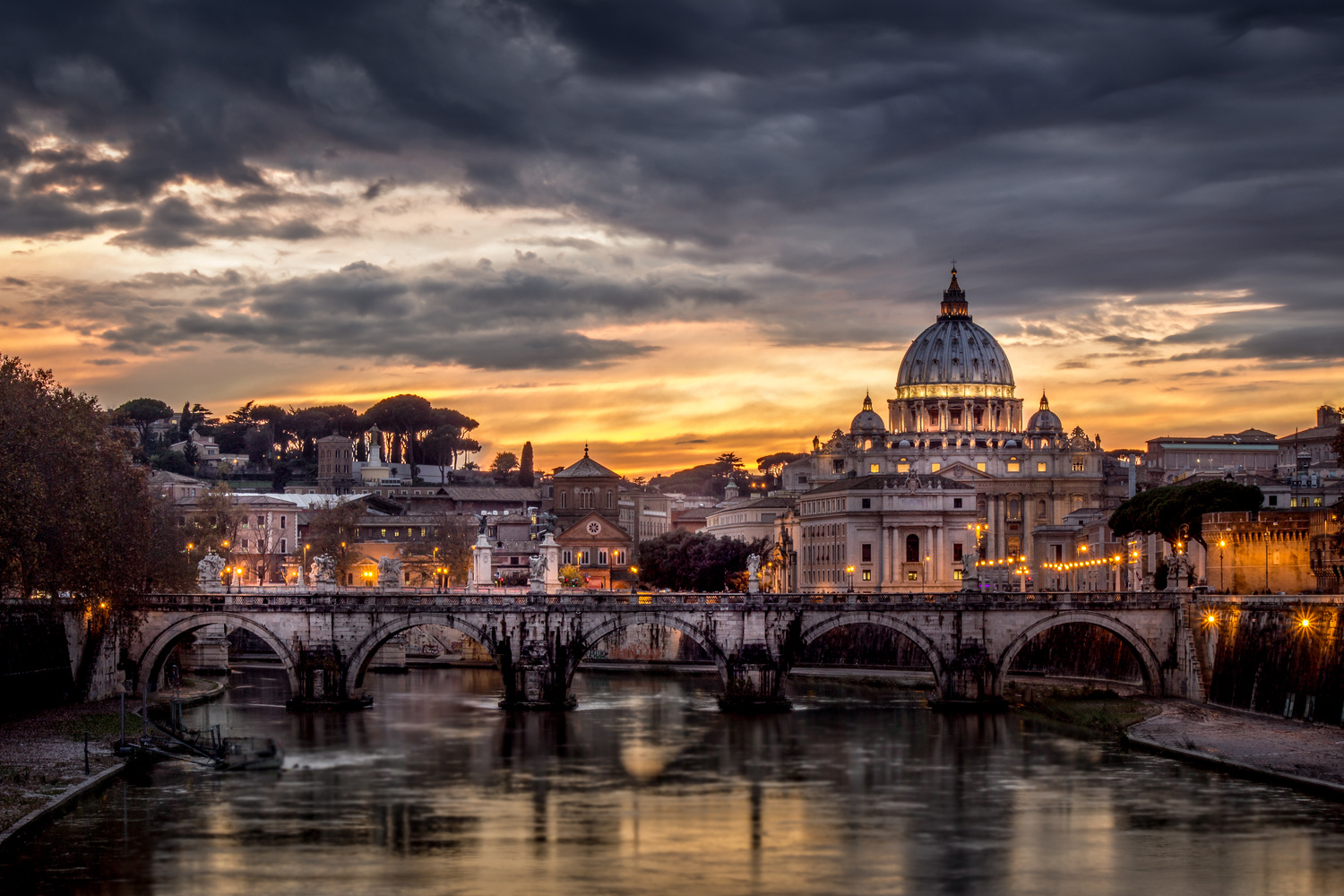 Vatican sunset by Keith Newman