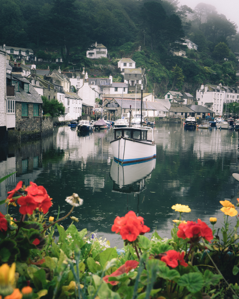 English harbour on a rainy day by Keith Newman