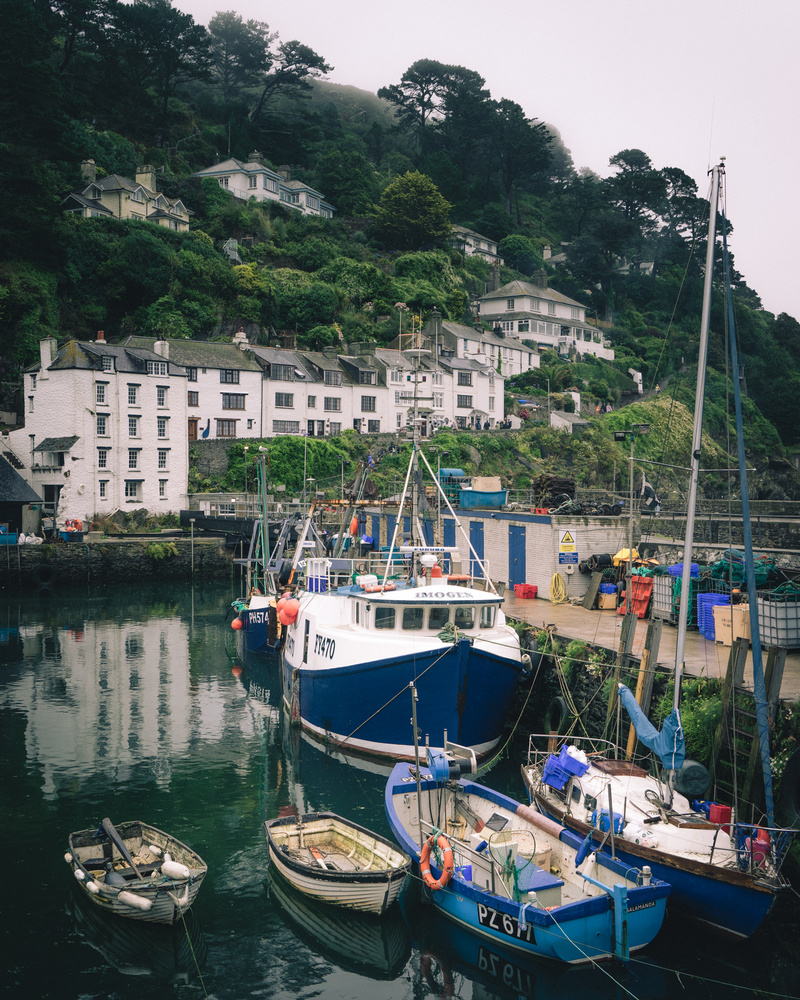 Polperro Cornwall harbour by Keith Newman