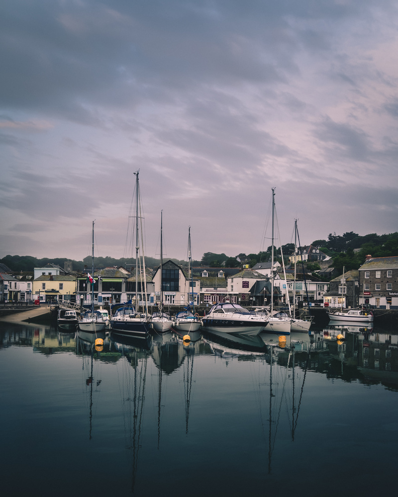 Padstow harbour boats by Keith Newman