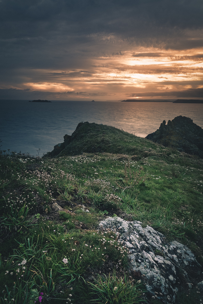 Cornish sunrise south of Padstow England by Keith Newman