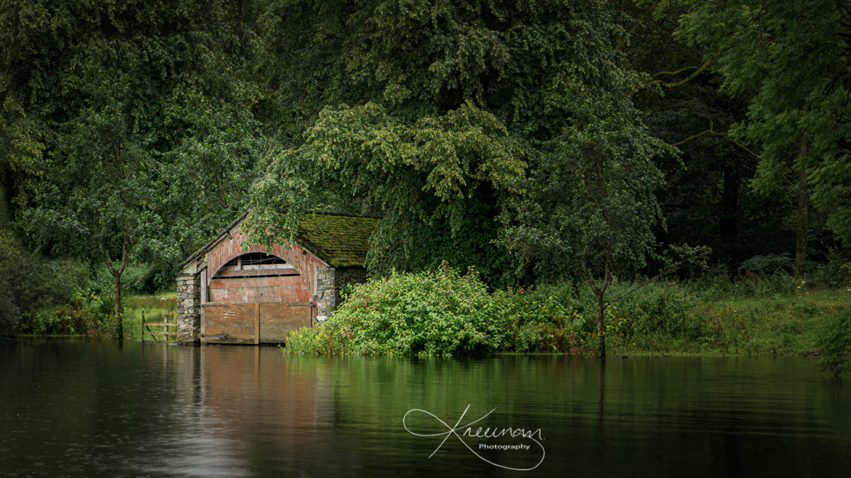 Boat house by Keith Newman
