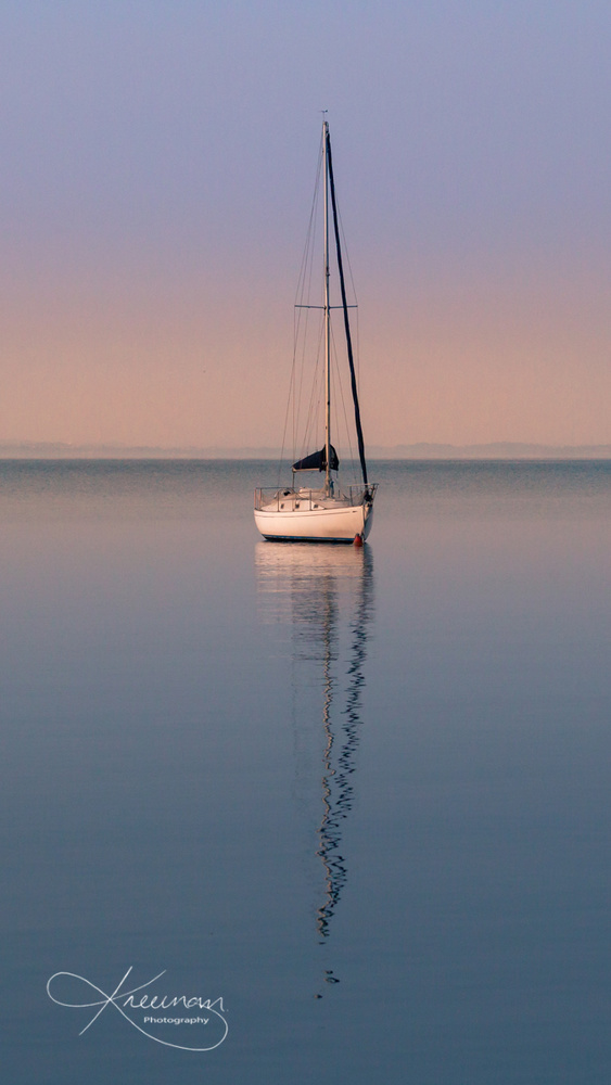 Calm waters on Lake Garda by Keith Newman