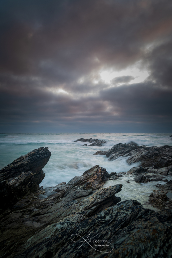 Rough waters on the Cornish coast by Keith Newman