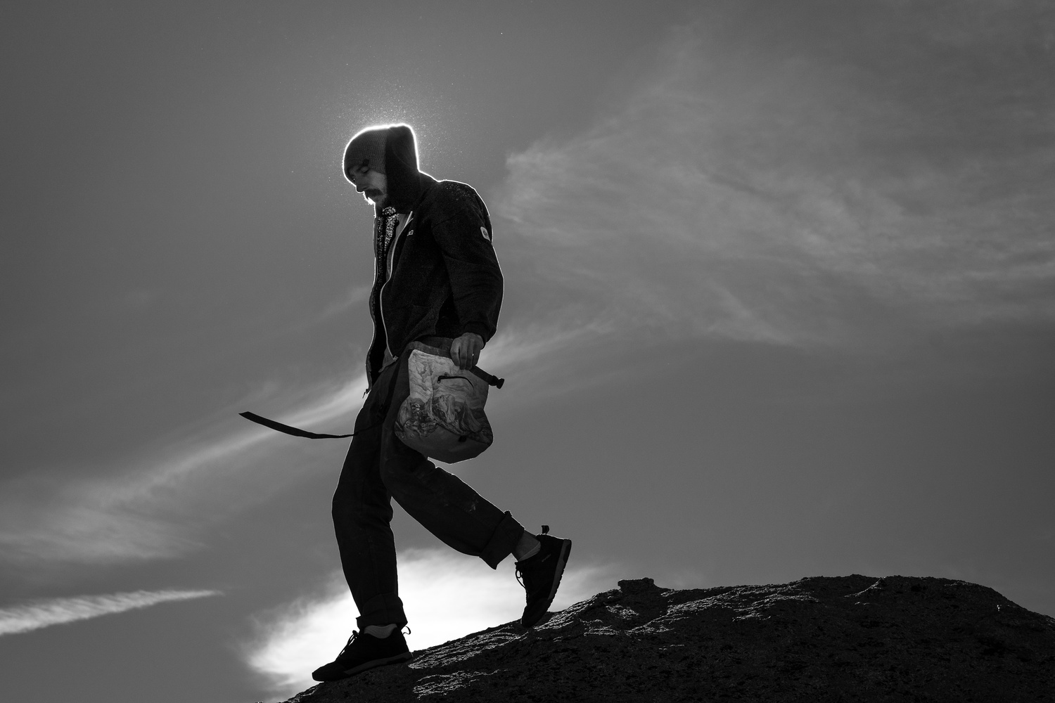 Climber in the wild by Michael Auffant