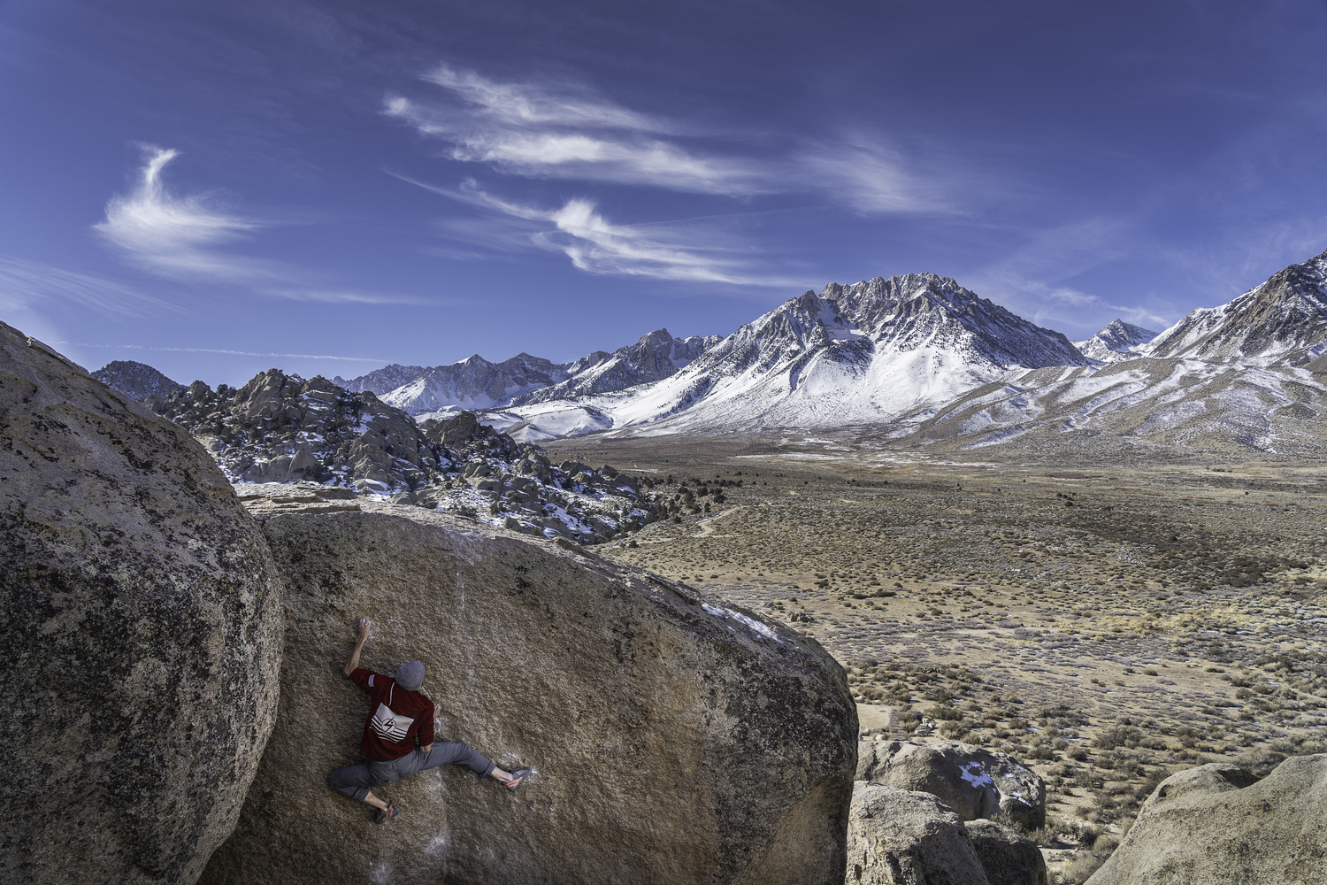 Climbing with a view by Michael Auffant
